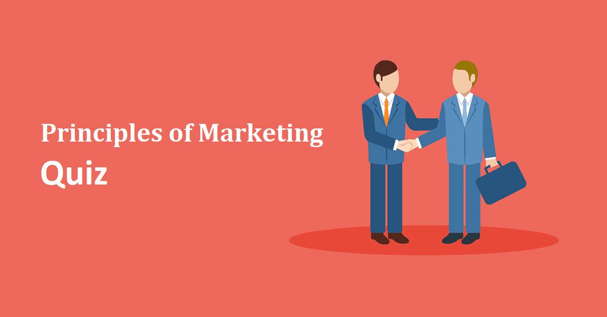 principles of marketing quiz 01